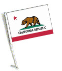 STATE of CALIFORNIA Car Flag with Pole