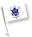 RETIRED COAST GUARD Car Flag with Pole