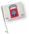 82 AIRBORNE Car Flag with Pole