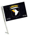 101 AIRBORNE Car Flag with Pole