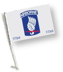 173 AIRBORNE Car Flag with Pole
