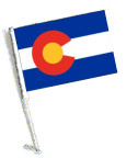 STATE of COLORADO Car Flag with Pole
