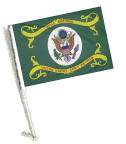 RETIRED ARMY Car Flag with Pole