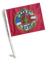 FIRE DEPT Car Flag with Pole
