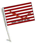 FIRST NAVY JACK Car Flag with Pole