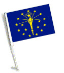 STATE of INDIANA Car Flag with Pole