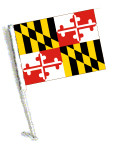 STATE of MARYLAND Car Flag with Pole