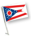 STATE of OHIO Car Flag with Pole