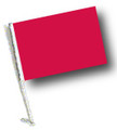 RED Car Flag with Pole
