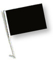 BLACK Car Flag with Pole