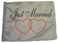 JUST MARRIED 11in X 15in Flag with GROMMETS