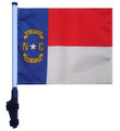 "SSP Flags STATE of NORTH CAROLINA 11""x15"" Flag with Pole and EZ On Extended Straps Bracket"