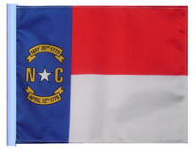 SSP Flags STATE OF NORTH CAROLINA Motorcycle Flag with Sissybar Pole or Trunk Pole