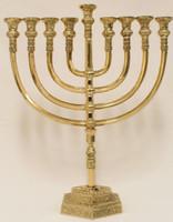 "Mikdash 22"" Brass Menorah (M-222)"