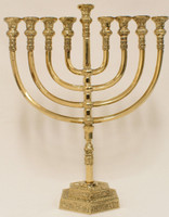 "Mikdash 16"" Brass Menorah (M-216)"