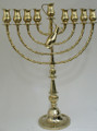 "Pitchers 25"" Brass  Menorah (M-225)"