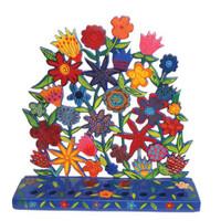 Laser Cutout Hanukkah Menorah Flowers