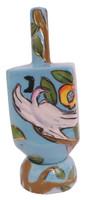 Ceramic Karshi Dreidel + Stand  - Tree of Life (DR-5942)
