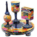 Jerusalem Wooden Havdalah Set