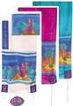 "Yair emanuel Hand-Painted Silk Tallit – Miriam and Debora 21"" x 77"" TS-2"