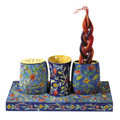 Oriental Wooden Shabbat and Havdalah Set