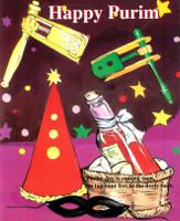Happy Purim - Laminated Children Book BKC-HPR