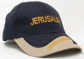 Navy and Tan Cap - Jerusalem (I-IC#21)