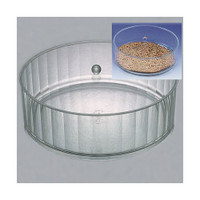 Lucite Round Matzah Box with Cover  Small