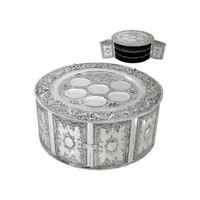 Silver Plated 3 Level Seder Plate with Doors