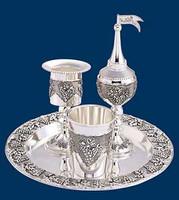Havdalah Silver plated 4pc set grape design