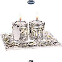 Traveling Magen David Choshen Candle Holders