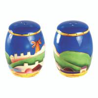 Ceramic Salt and Pepper Shaker -United  Jerusalem