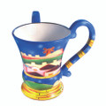 Ceramic Kiddush cup - small