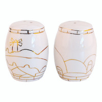 Ceramic Pillars Candle Holder - Jerusalem of Gold