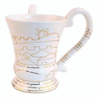 Ceramic Havdala Set<br>Jerusalem of Gold