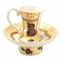 Kiddush Cup and Plate - Jerusalem of Gold