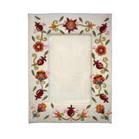 Single Pomegranate Embroidered Picture Frame