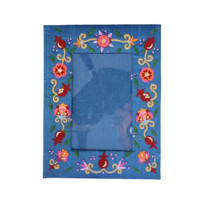 Single Flowers Embroidered Picture Frame