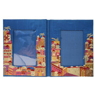 Double Jerusalem Embroidered Picture Frame