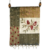 Gold Flowers Applique Embroidered Bag