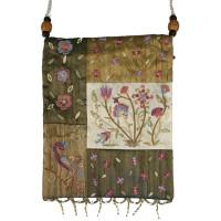 Gold Pomegrate Applique Embroidered Bag
