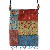 Multicolor Pomegranate Applique Embroidered Bag