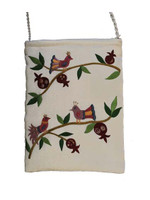 White Birds Embroidered Bag
