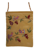 Gold Birds Embroidered Bag