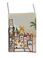 White Jerusalem Embroidered Bag