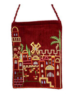 Maroon Jerusalem Embroidered Bag