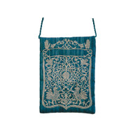 Blue Oriental Embroidered Bag