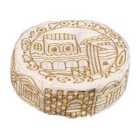 Gold Jerusalem Hand Embroidered Hat