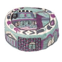 Blue Jerusalem Hand Embroidered Hat