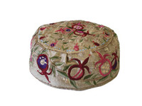 Gold Pomegranate Hand Embroidered Hat